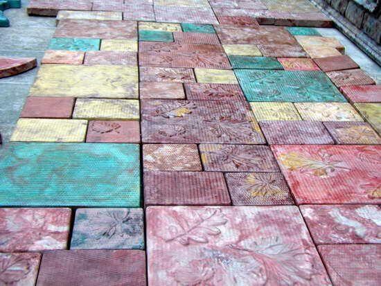Руками своими тротуарная плитка цветная